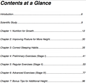 Grow Taller 4 Idiots Table Of Contents 2